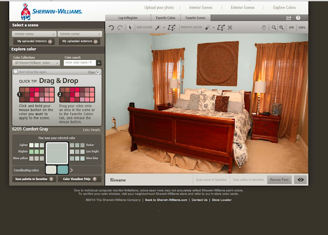 Kelly 39 s korner bedroom makeover and a giveaway for Interior paint color visualizer