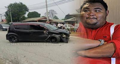 Pelawak Terkenal Abam Bocey Terlibat Dalam Kemalangan