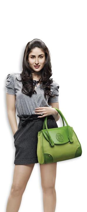 Kareena Kapoor green lavie handbag - Kareena Kapoor for Lavie handbags -photshoot in black