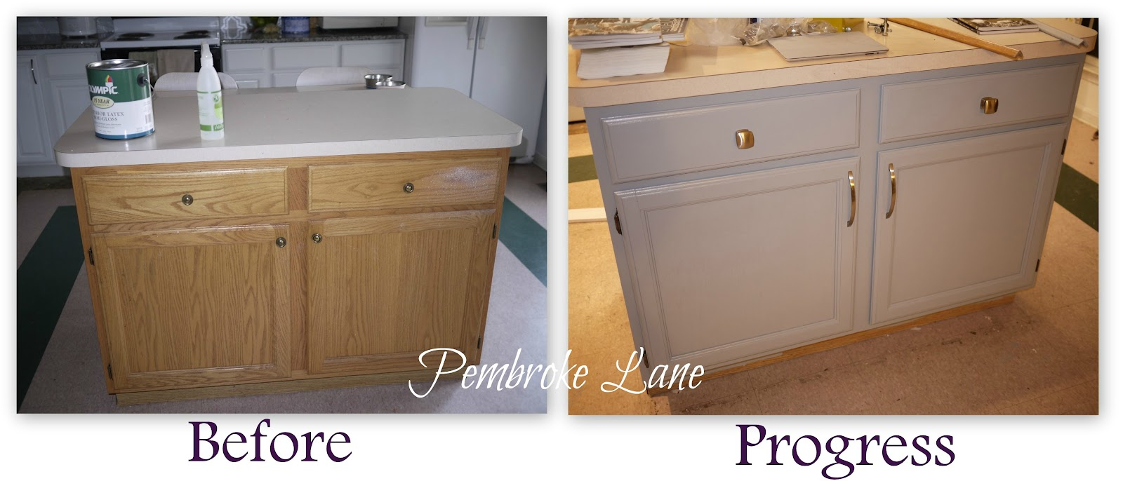 Kitchen Island Update how to customize a kitchen island with trim | lost & found
