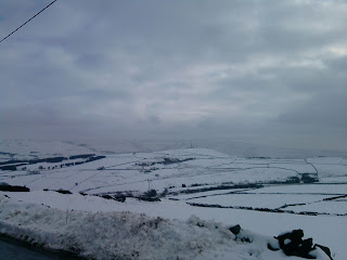 Snow on the moors.