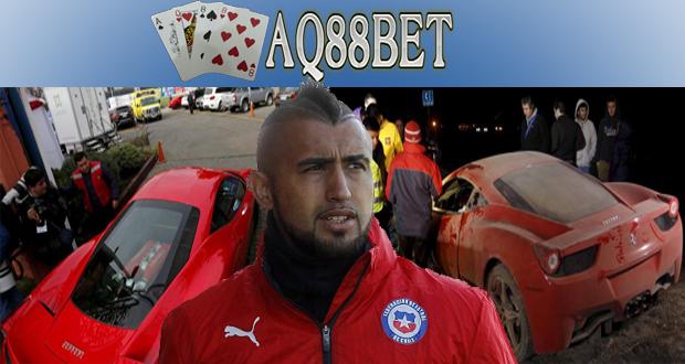 Agen Bola AQ88bet - Kepolisian Chile mengonfirmasi bahwa salah satu pemain tim nasional Chile, Arturo Vidal benar mengalami kecelakaan mobil. Mereka juga menyebut bahwa Vidal berada di bawah pengaruh alkohol saat mengemudikan mobilnya.