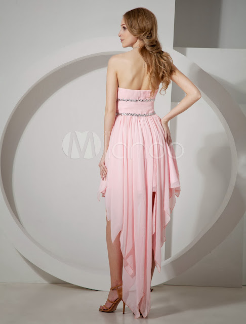 China Wholesale Homecoming Dresses - Glamorous Short Pink Strapless Chiffon Womens Homecoming Dress