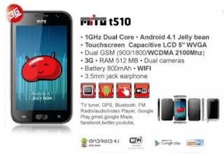 Info Spesifikasi dan Harga Phablet Mito T510