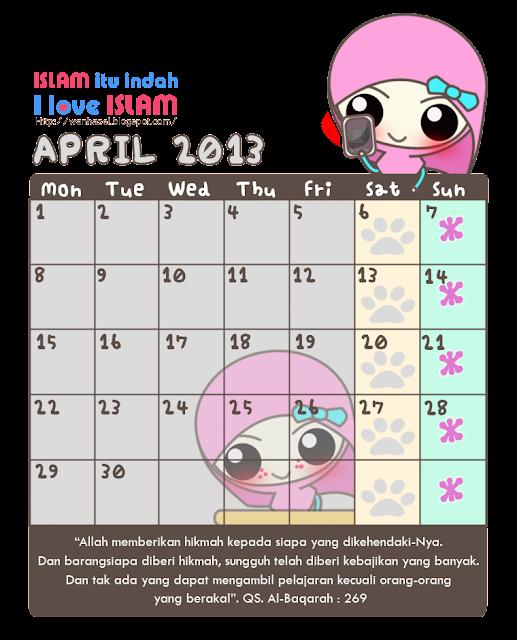 Calendar April Png : Wadah madrasah pengalaman freebies kalender kawaii