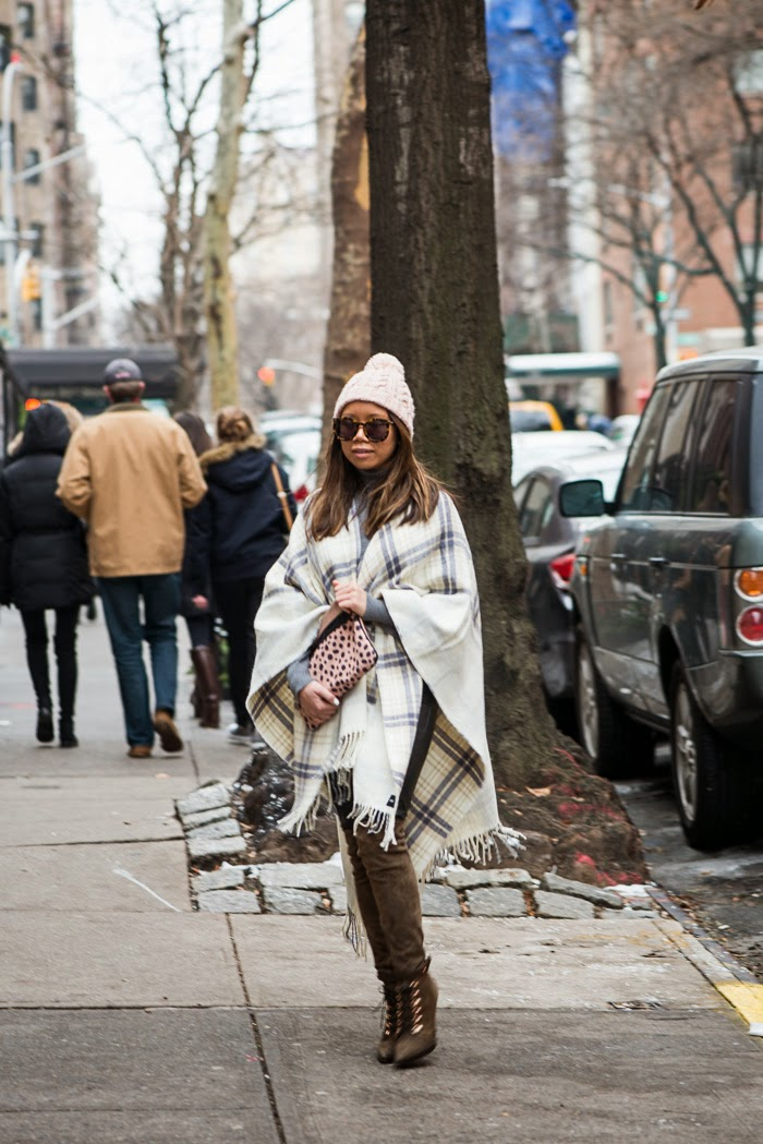 layering clothes in the winter to stay warm