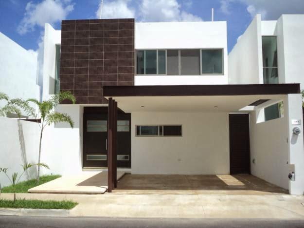 Fachadas de casas modernas marzo 2014 for Cocheras minimalistas