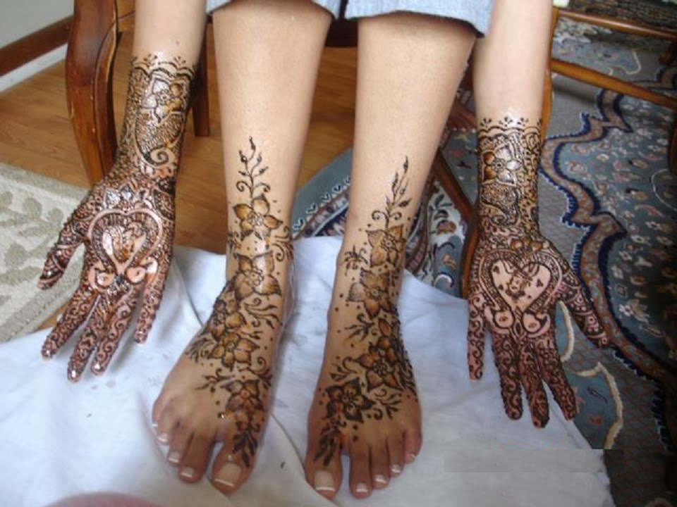 Mehndi For Hands And Legs : Mehandi design for legs and hands pictures