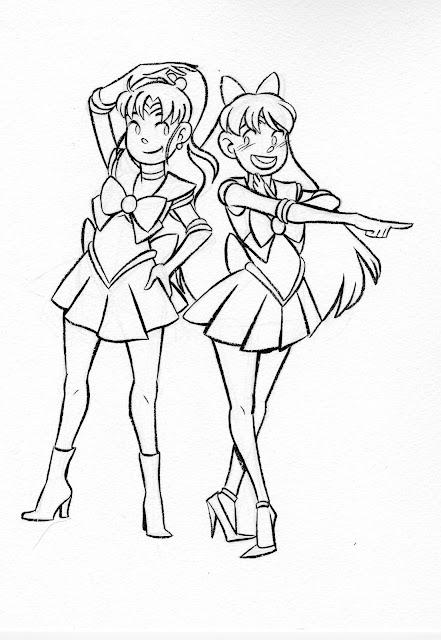 Sailor Moon, Makoto, Minako, Sailor Jupiter, Sailor Venus, Sailor Moon fanart