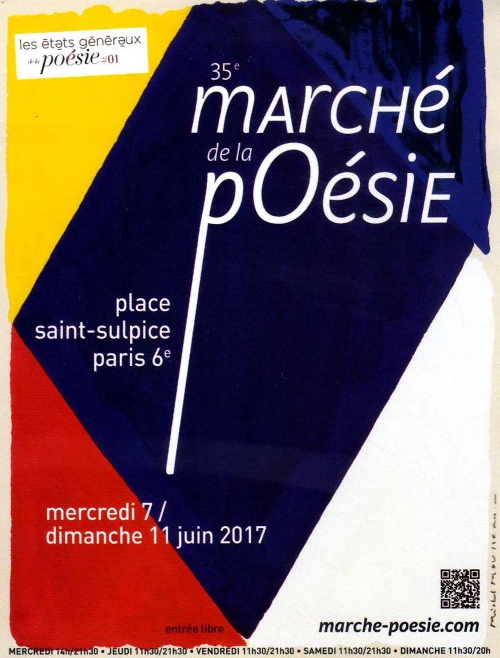 ÉDITIONS LE CADRAN LIGNÉ au 35ème Marché de la poésie, Place SAINT-SULPICE, PARIS 6ème