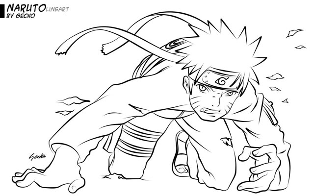 imagens de naruto para colorir online - Naruto Jogos de Colorir e Pintar