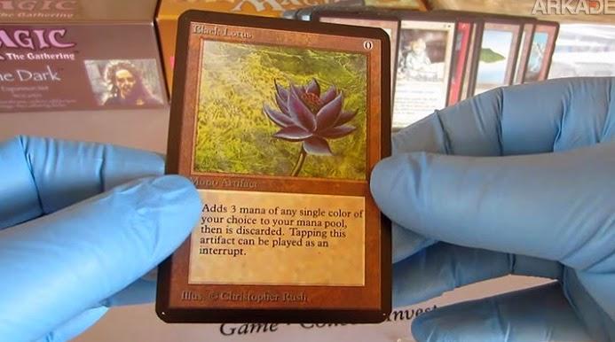 magic: the gathering, colecionador encontra black lotus