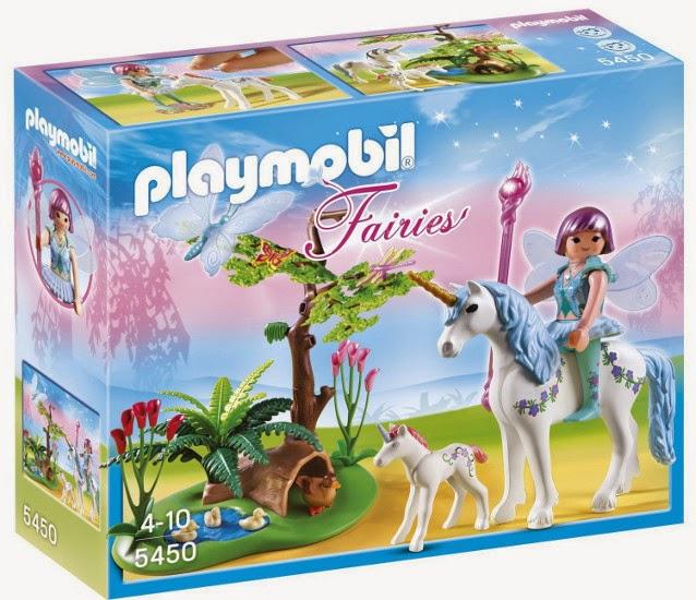 TOYS : JUGUETES - PLAYMOBIL Fairies : Hadas  5450 Hada Aquarella en la pradera del unicornio  Producto Oficial | Edad: 4-10 años