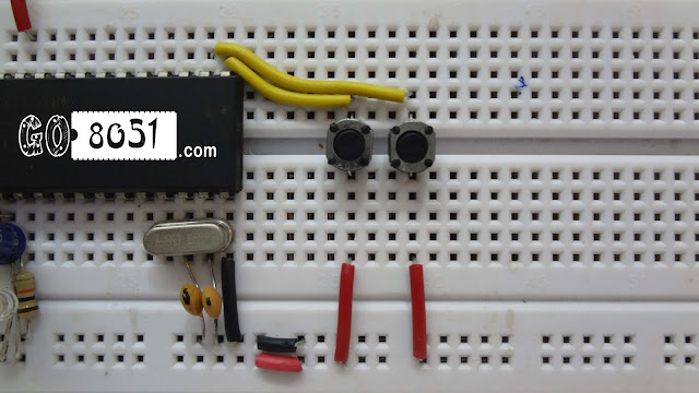 Chapter 4.4 - 8051 On Breadboard with Switches and Multiple LED - Practical Tutorial