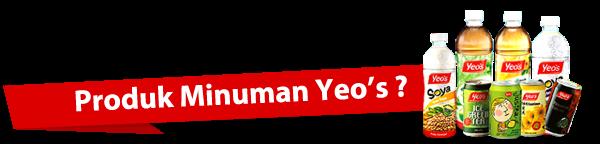 Produk minuman Yeo's