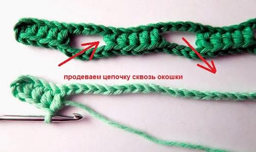 Простой и интересный шарф крючком