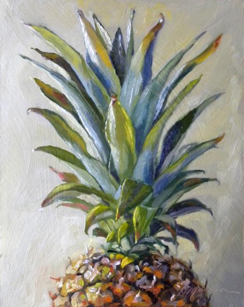 pineapple painting. pineapple demo painting s
