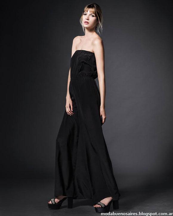 Vestidos de moda invierno 2014 Etiqueta negra Mujer.