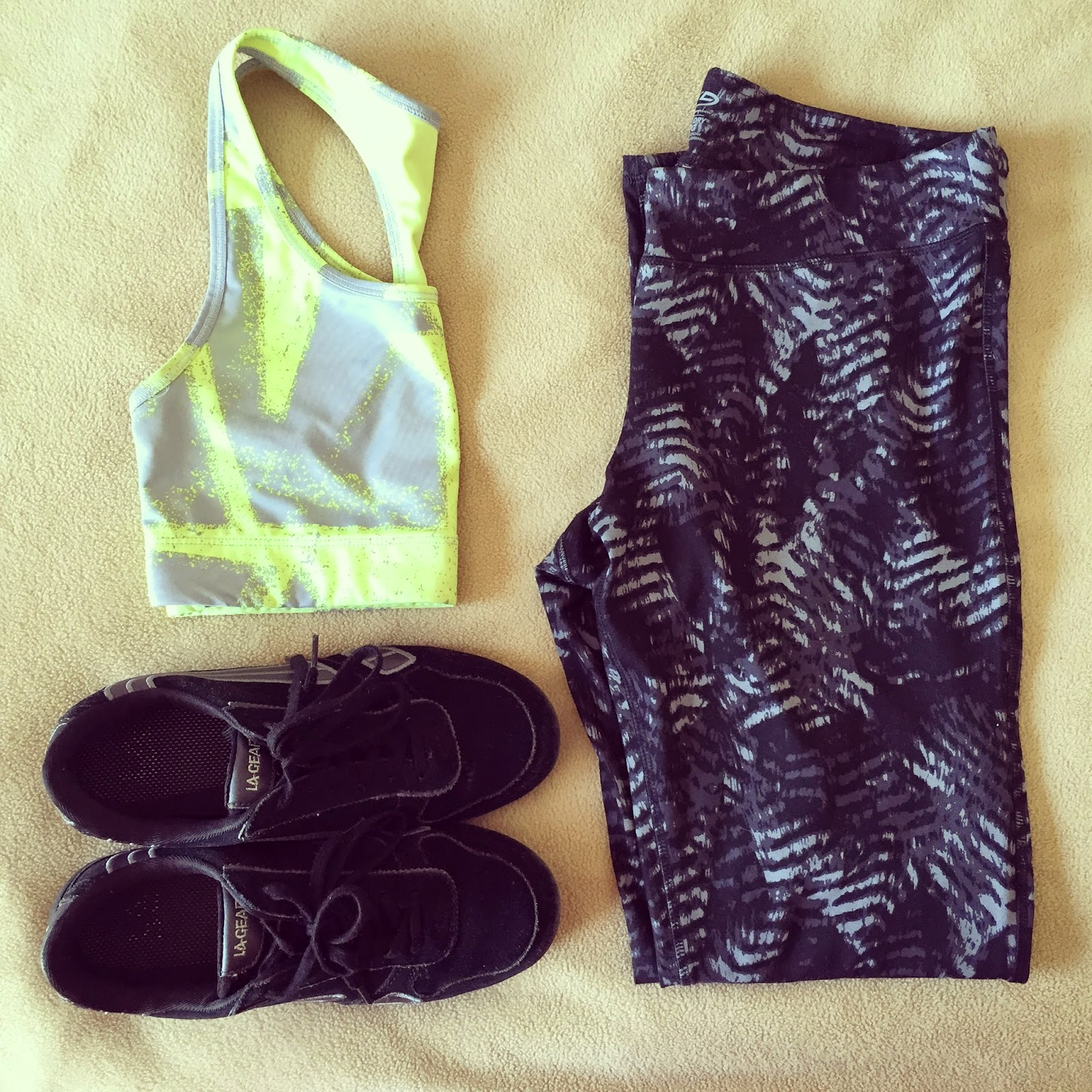 workout clothes for an outside run in spring