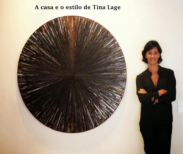 A casa e o estilo de Tina Lage