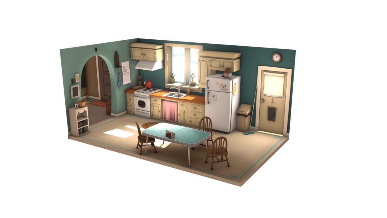 sketchblog willie real 39 s kitchen set progress renders