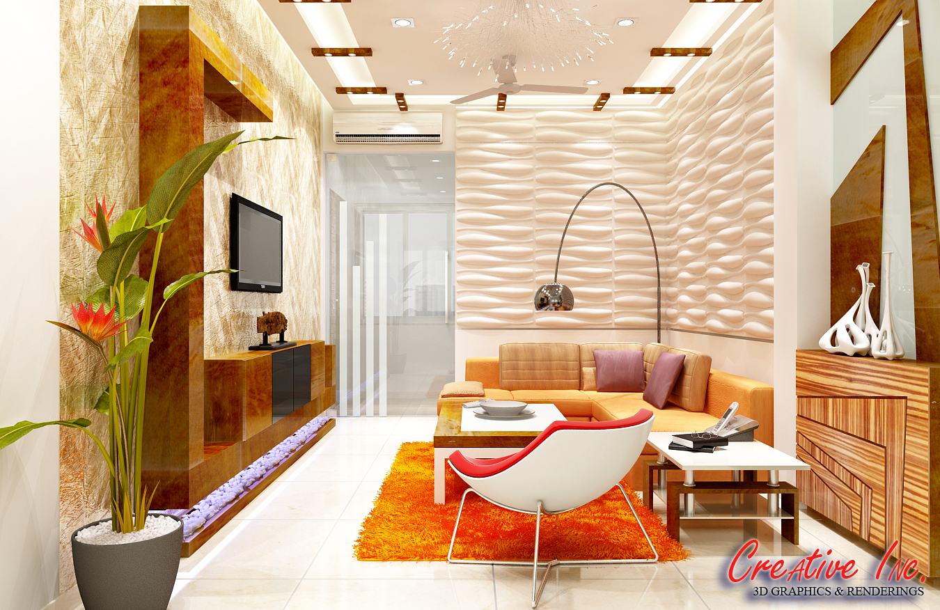 Creative inc 3d living room designs for Living room designs 3d