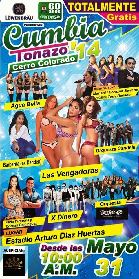 Cumbia Tonazo 2014 - Las Vengadoras en Arequipa - 31 de mayo