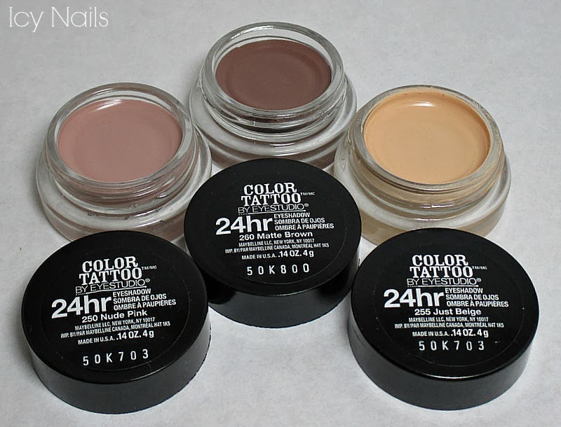 Maybelline eye studio color tattoo limited edition matte for Maybelline color tattoo creme de nude