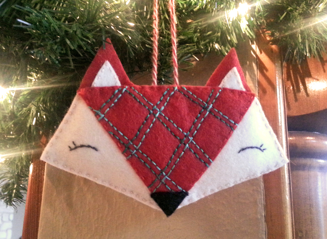 Festive fox ornament pattern tutorial u beckandlundy