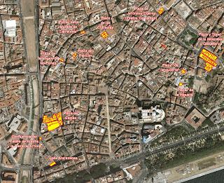 rupturas recientemente provocadas sobre la trama urbana histórica Mapa del Centro Histórico de Málaga