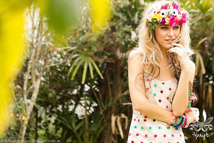 Vestidos verano 2015 Sophya. Moda verano 2015.
