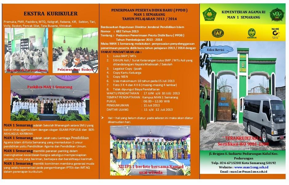 Pendaftaran MAN 1 Semarang