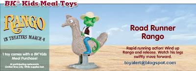 Burger King Rango Toys 2011 - Road Runner Rango