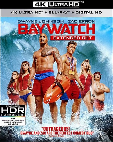 Baywatch: Guardianes de la Bahía UNRATED 4K (2017) 2160p 4K UltraHD HDR BDRip 17GB mkv Dual Audio DTS-HD 7.1 ch