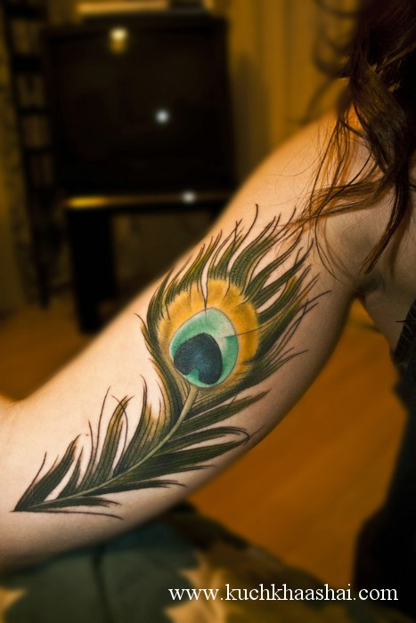 peacock feather tattoos. Peacock And Peacock Feather