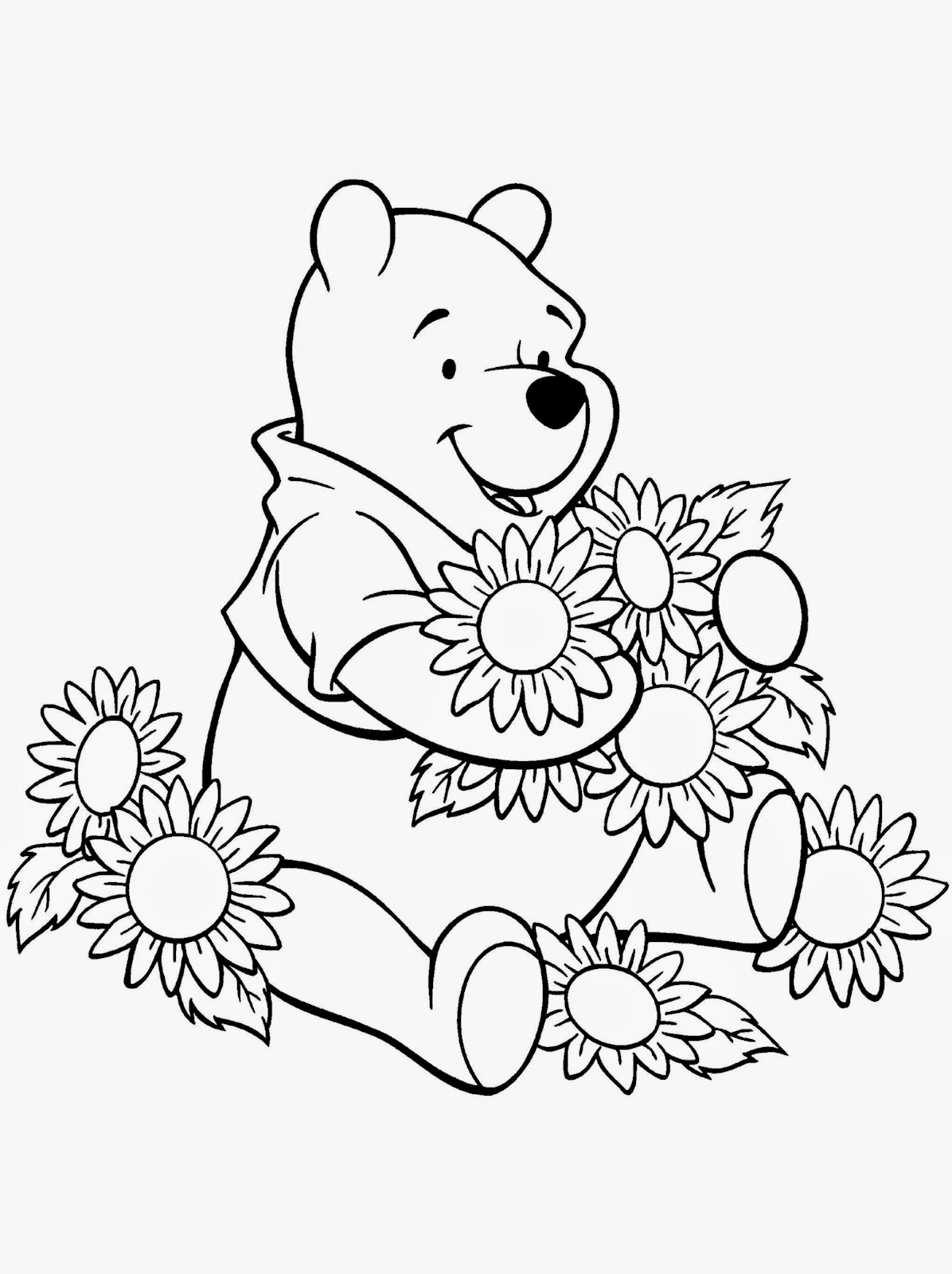 Winnie the pooh coloring sheets free coloring sheet for Pooh coloring page