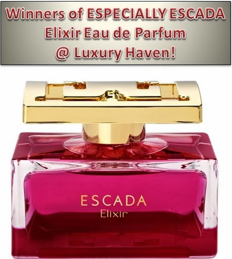 escada elixir fragrance xmas giveaways