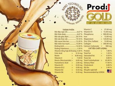 Thành phần Prodi Gold giá rẻ