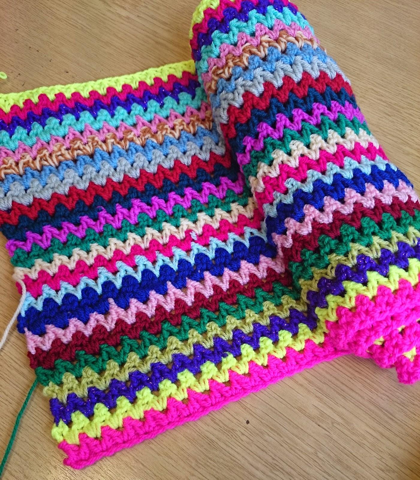 Crochet V Stitch : crochet v stitch vstitch vintage travel blanket WIP update v stitch ...