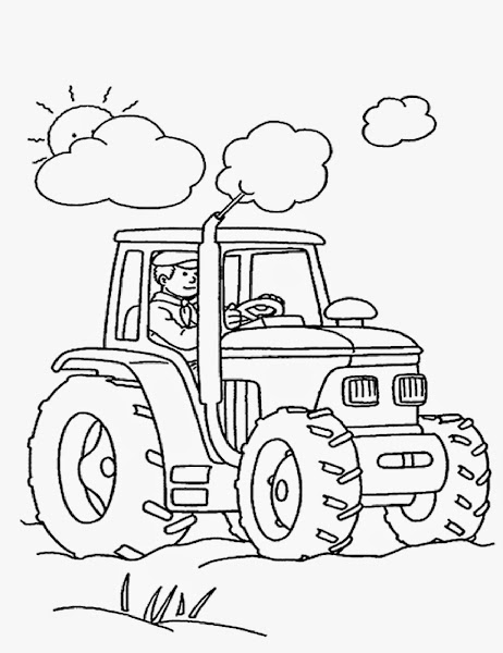 Printable Tractor Coloring Pages for Kids