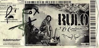 entrada de concierto de rulo y la contrabanda