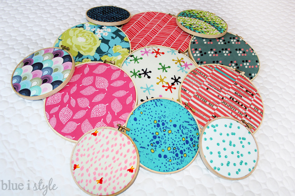 Fabric Filled Embroidery Hoops