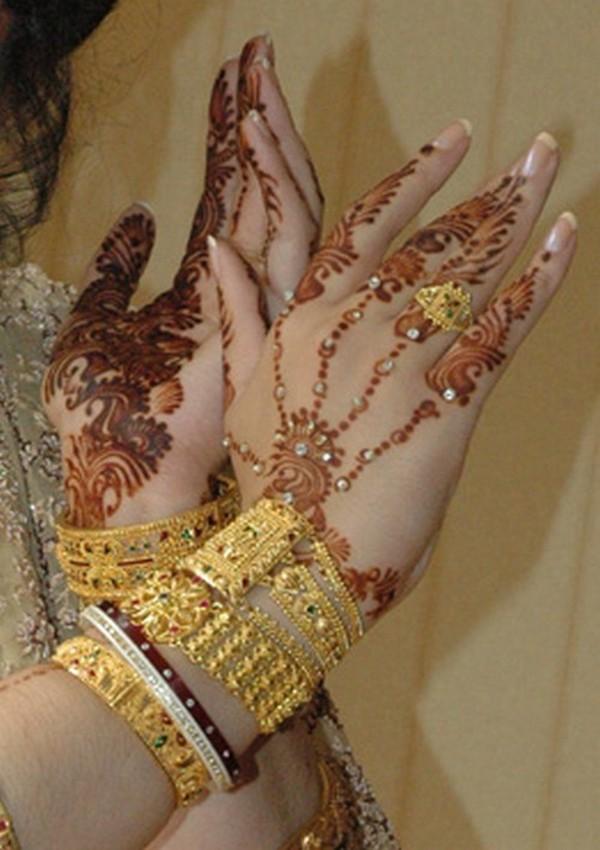 Fancy Henna Mehndi For Girls : Fancy eid mehndi design for girls