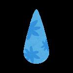 梅雨のマーク(雨粒)