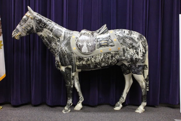 one of the 2 horses I decorated for Horses of Honor rolling out this month