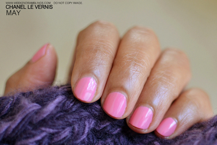 Chanel Makeup Le Vernis Pink Nail Polish May Indian Beauty Blog Reviews Swatches NOTD Spring 2012