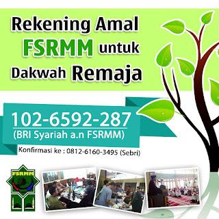 Rekening Amal FSRMM Untuk Dakwah Remaja