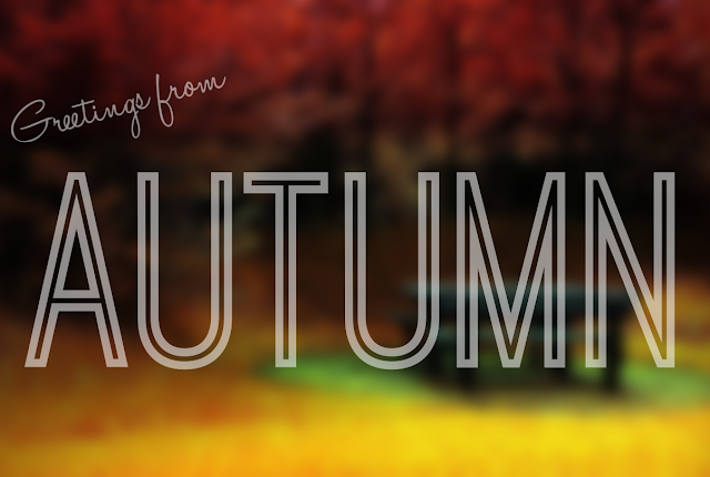 I love Autumn! Such a cute postcard-esque picture for Fall!