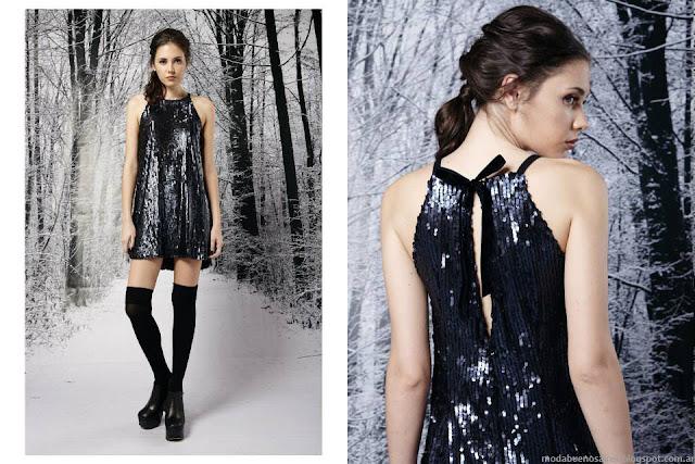 Ropa de moda invierno 2015. Penny Love vestidos de fiesta invierno 2015.