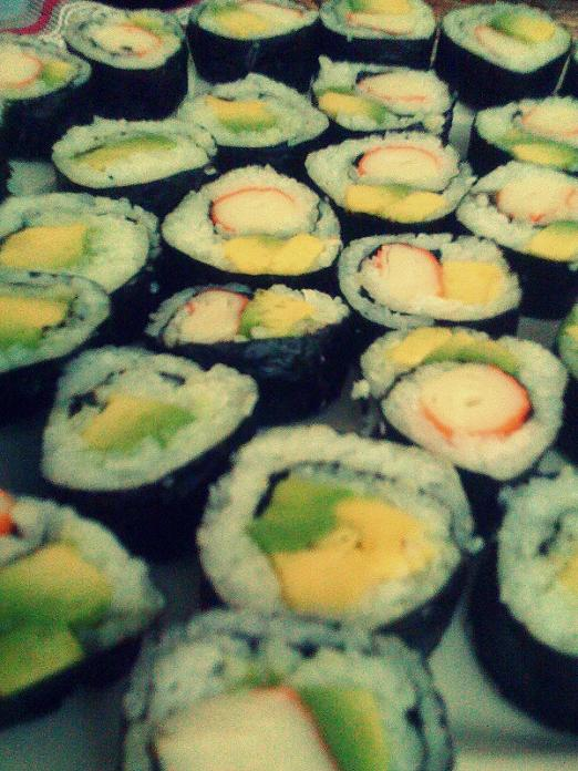 sushi casero maki